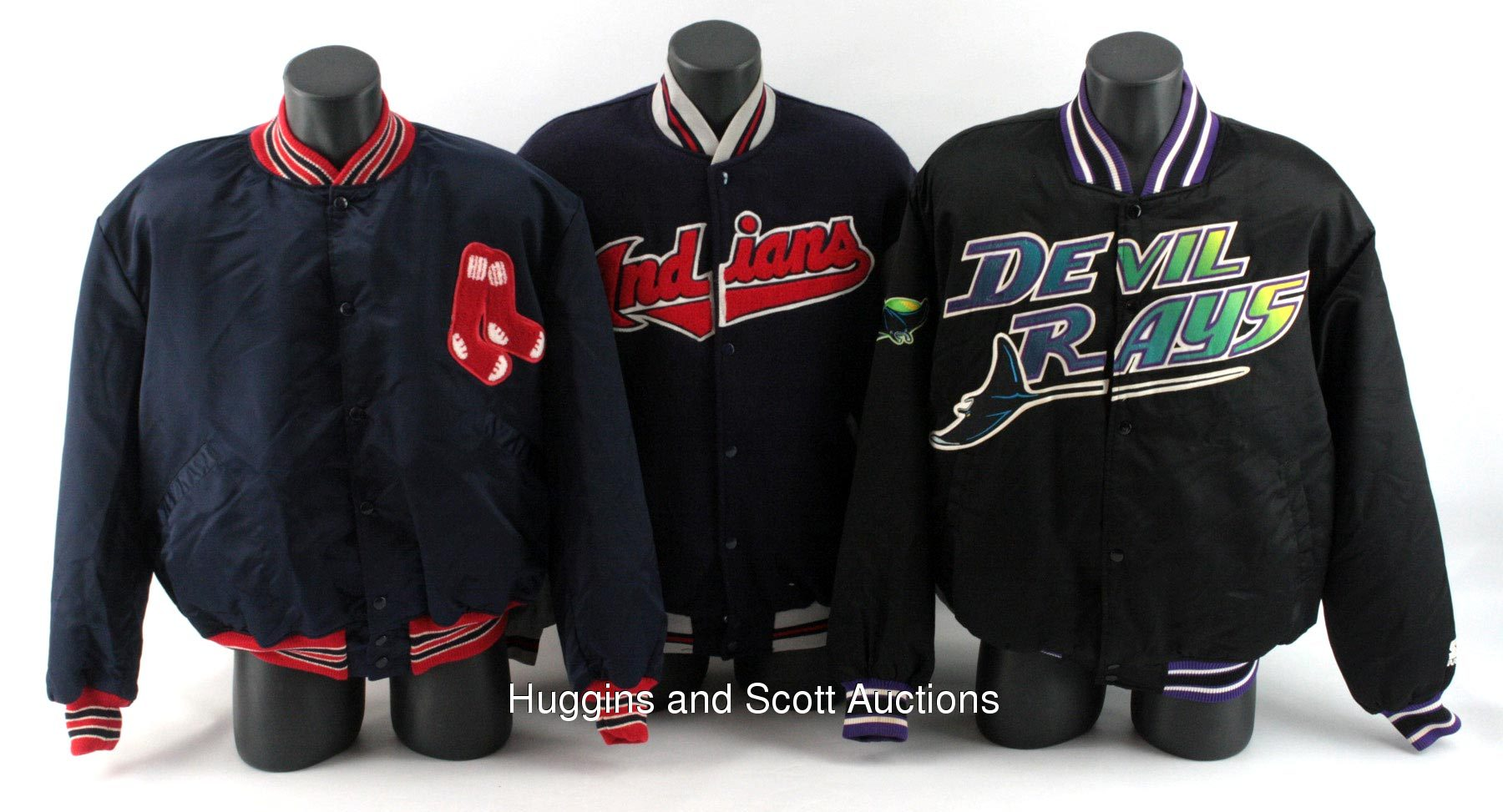 6) Major League Baseball Team-Issued Jackets With Early Devil Rays